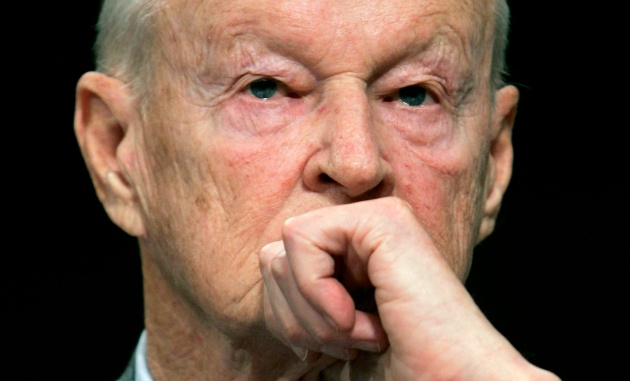 Former National Security Adviser Zbigniew Brzezinski testifies before the Senate Foreign Relations Committee on Capitol Hill in Washington