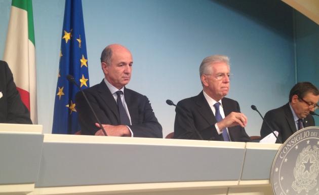 Passera-Monti-Decreto-crescita-conferenza-stampa